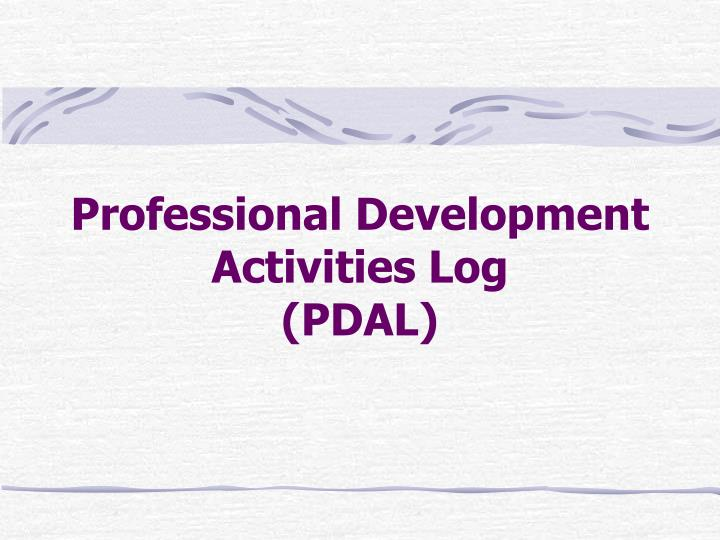 Professional Development Activities Log