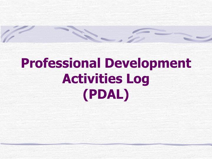 Professional Development Activities Log