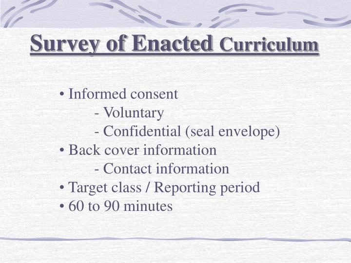 Survey of Enacted