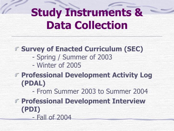 Study Instruments &