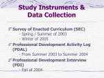 study instruments data collection