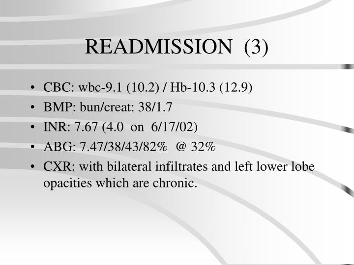 READMISSION  (3)