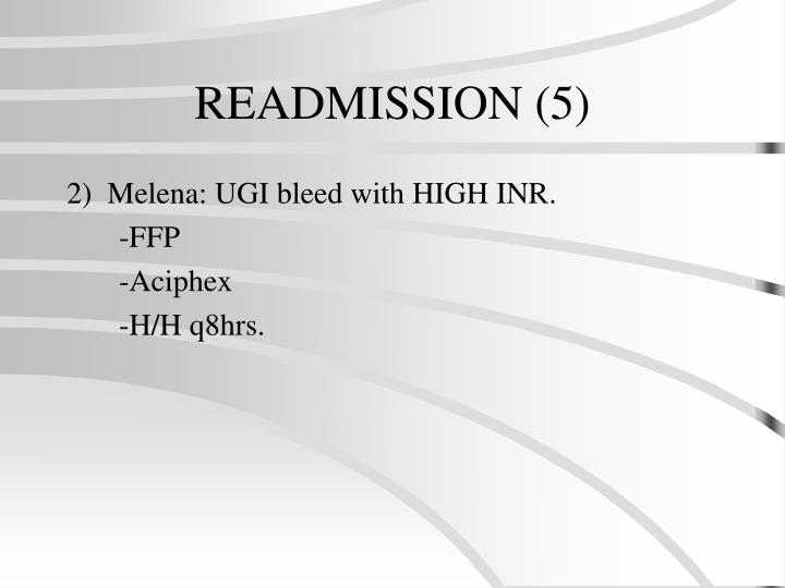 READMISSION (5)