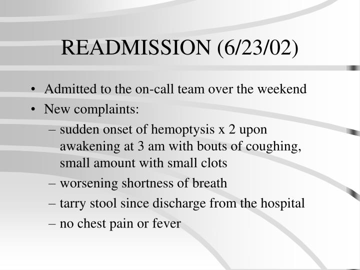READMISSION (6/23/02)