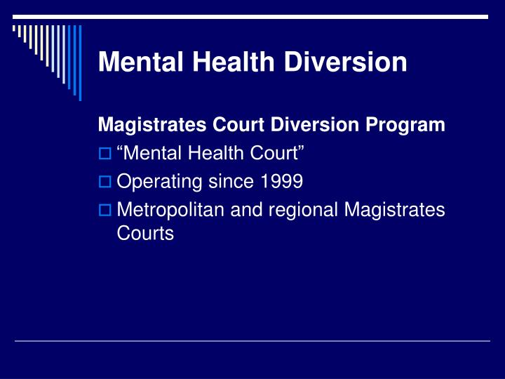 Mental Health Diversion