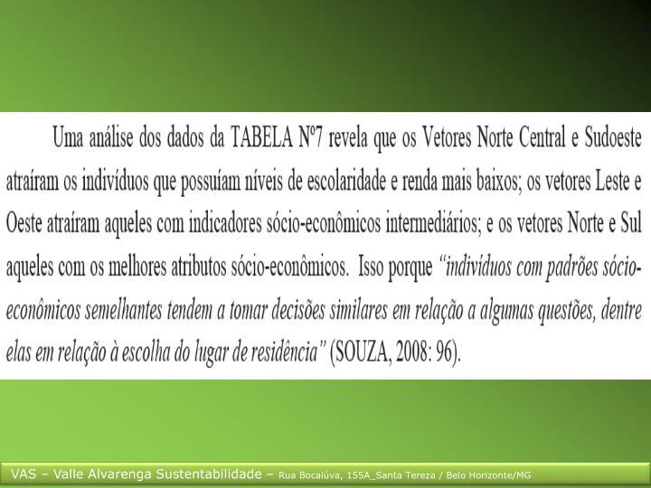 VAS – Valle Alvarenga Sustentabilidade –