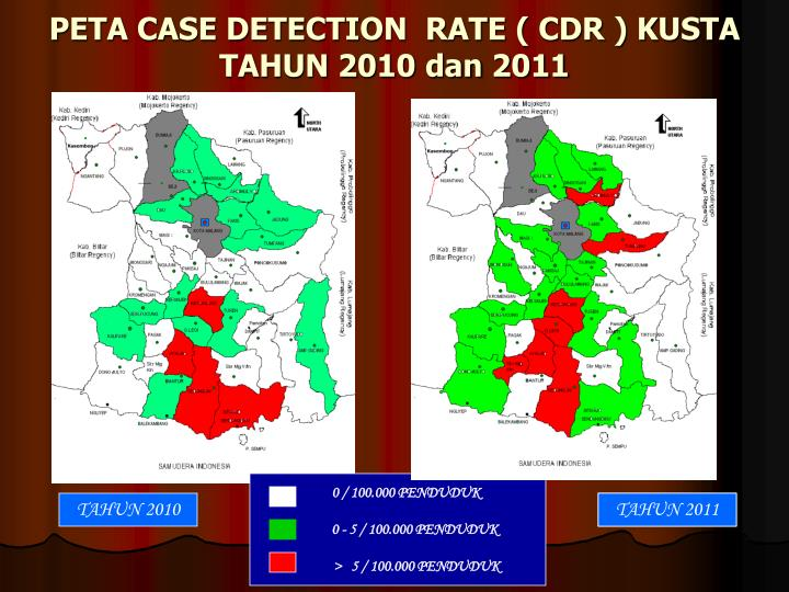 PETA CASE DETECTION  RATE ( CDR ) KUSTA