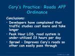 cary s practice roads apf ordinance4