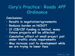 cary s practice roads apf ordinance5