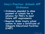 cary s practice schools apf ordinance1