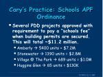 cary s practice schools apf ordinance6