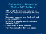 conclusions reasons to modify 100 buffers