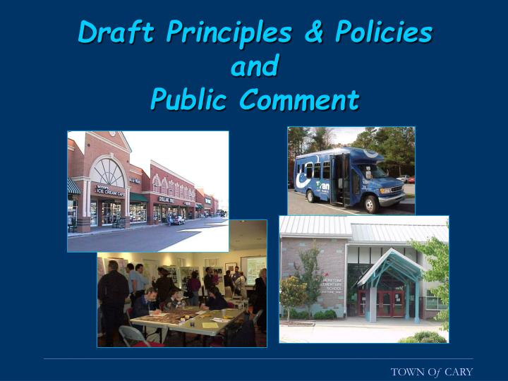 Draft Principles & Policies
