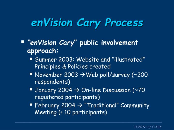 enVision Cary Process