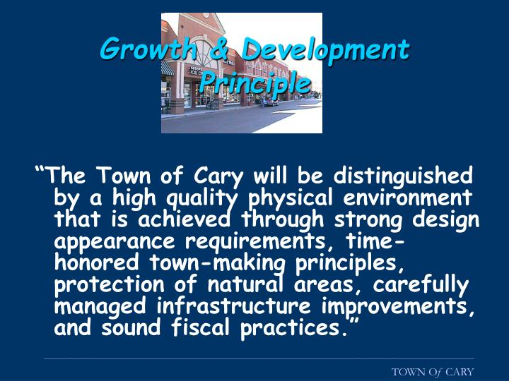 Growth & Development Principle