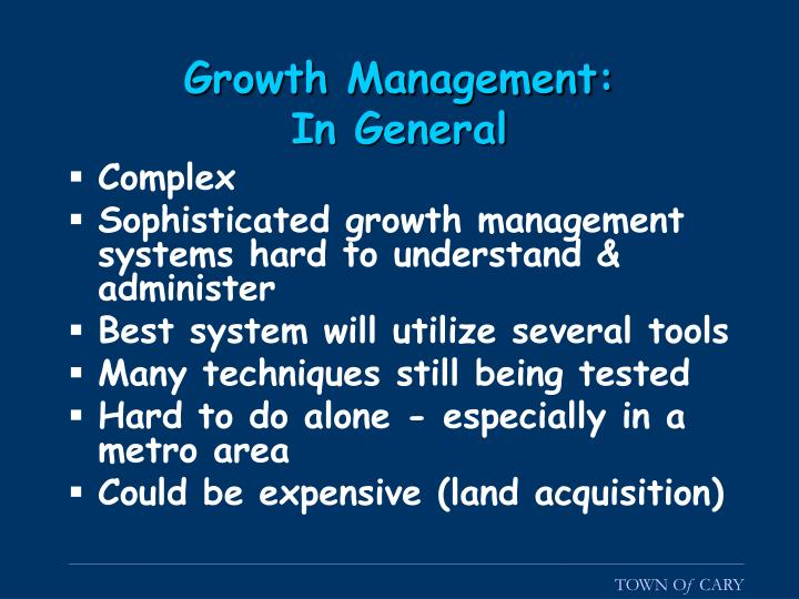 Growth Management: