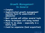 growth management in general