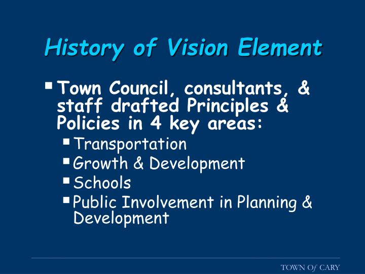 History of Vision Element