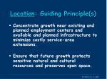 location guiding principle s