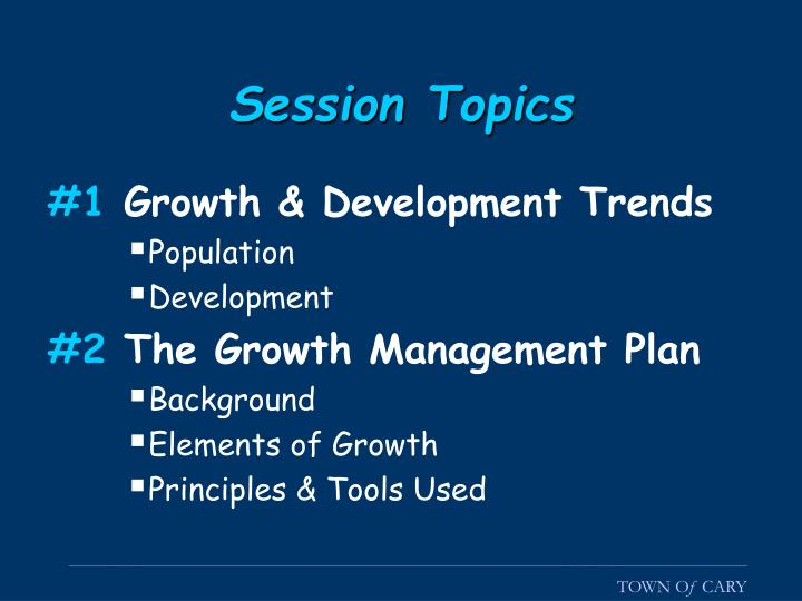 Session Topics