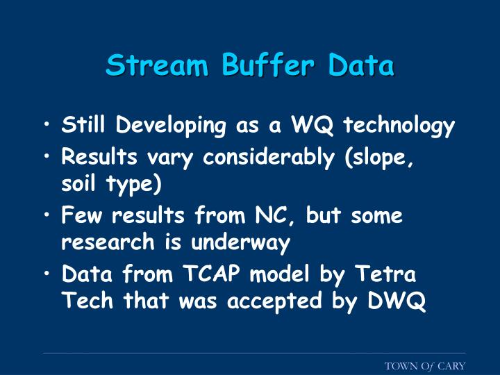 Stream Buffer Data