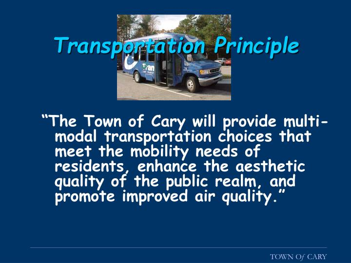 Transportation Principle