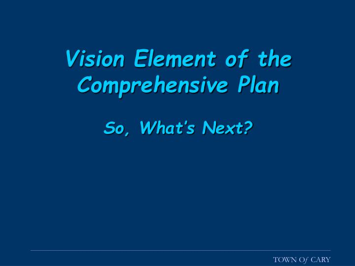 Vision Element of the