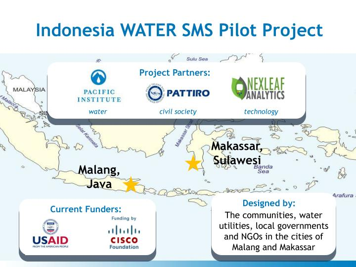 Indonesia WATER SMS Pilot Project