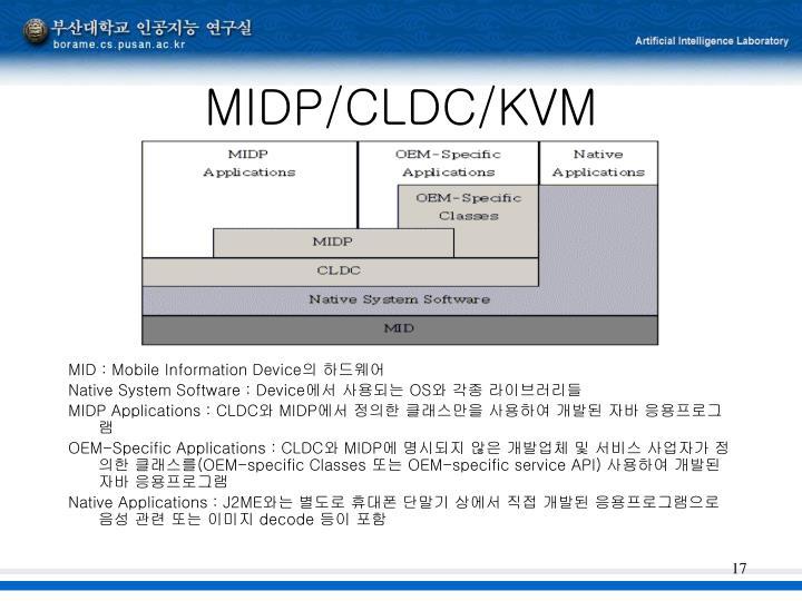MIDP/CLDC/KVM