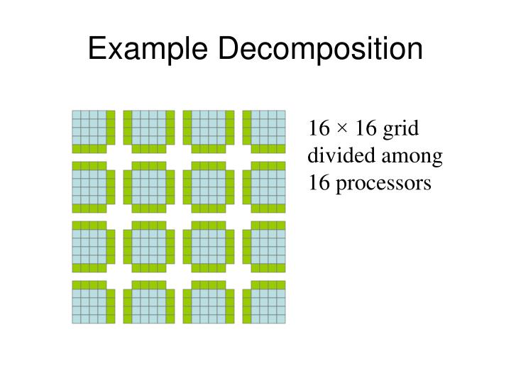 Example Decomposition