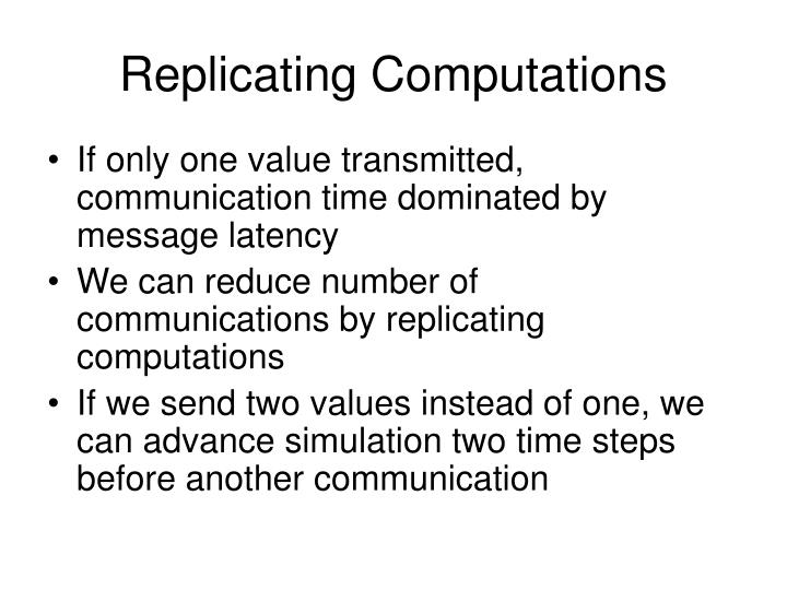 Replicating Computations