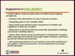 suggestions to civil society