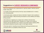 suggestions to survey research companies
