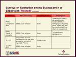 surveys on corruption among businessmen or expatriates methods continued2