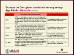 surveys on corruption conducted among voting age adults methods continued1