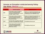 surveys on corruption conducted among voting age adults methods continued4