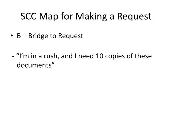 SCC Map for Making a Request