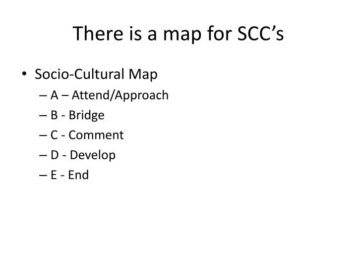 There is a map for SCC's