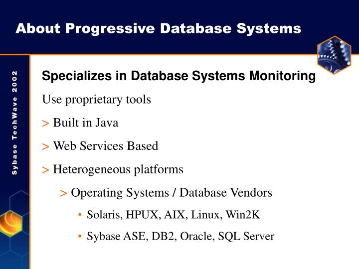 About Progressive Database Systems