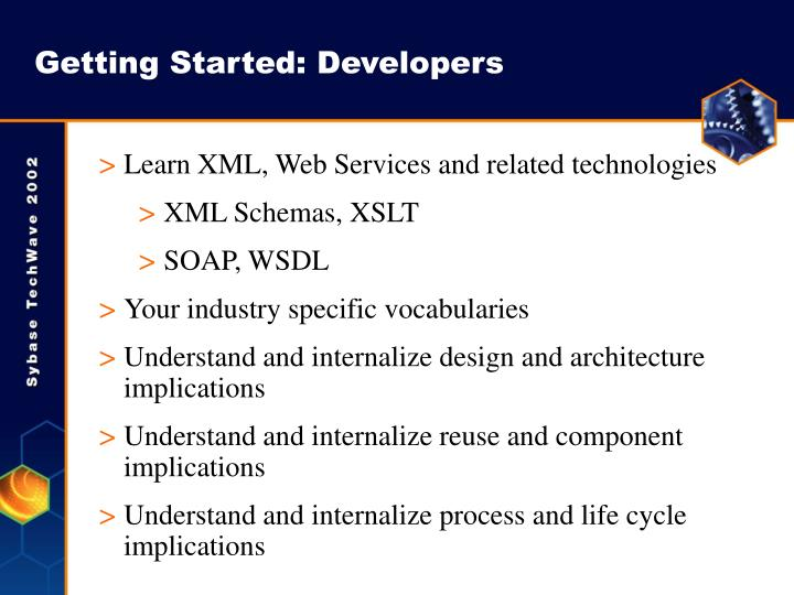 Getting Started: Developers