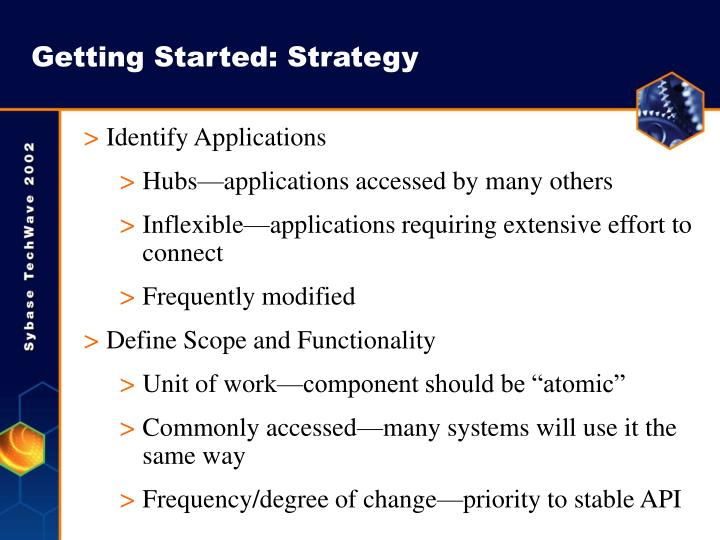 Getting Started: Strategy