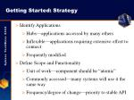 getting started strategy