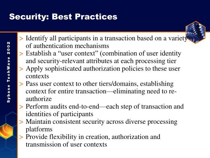 Security: Best Practices