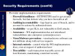 security requirements cont d