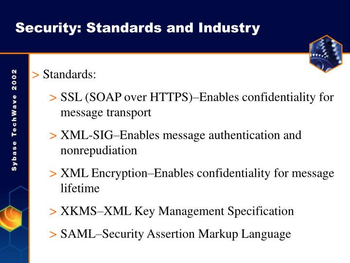 Security: Standards and Industry