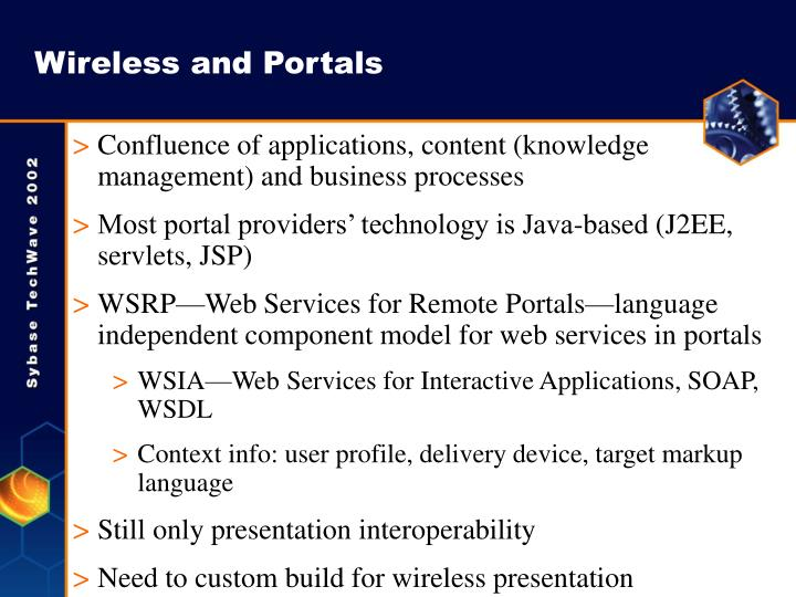 Wireless and Portals