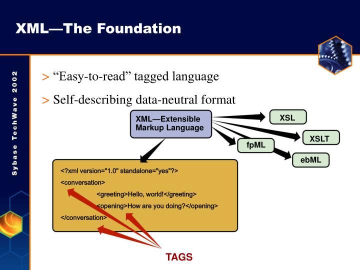 XML—The Foundation