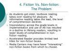 4 fiction vs non fiction the problem