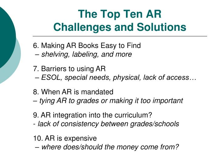 The top ten ar challenges and solutions1