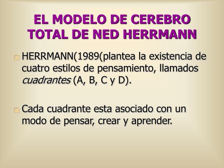 EL MODELO DE CEREBRO TOTAL DE NED HERRMANN